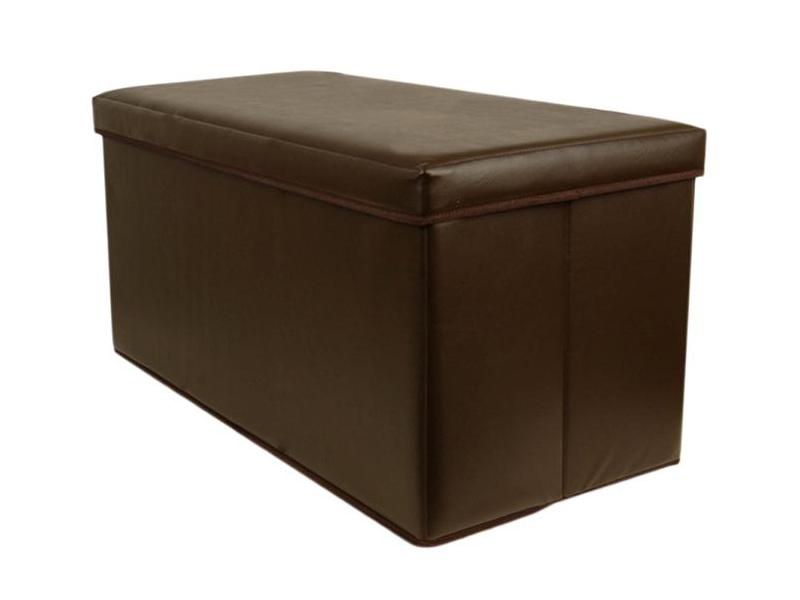 Double-Large-2-Seater-Faux-Leather-Ottoman-Folding-Storage-Stool-Box-Pouffe-Seat