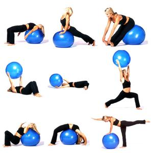 """ INCH GYM BALL SWISS EXERCISE YOGA BALL FITNESS CORE ABS WEIGHT LOSS ..."