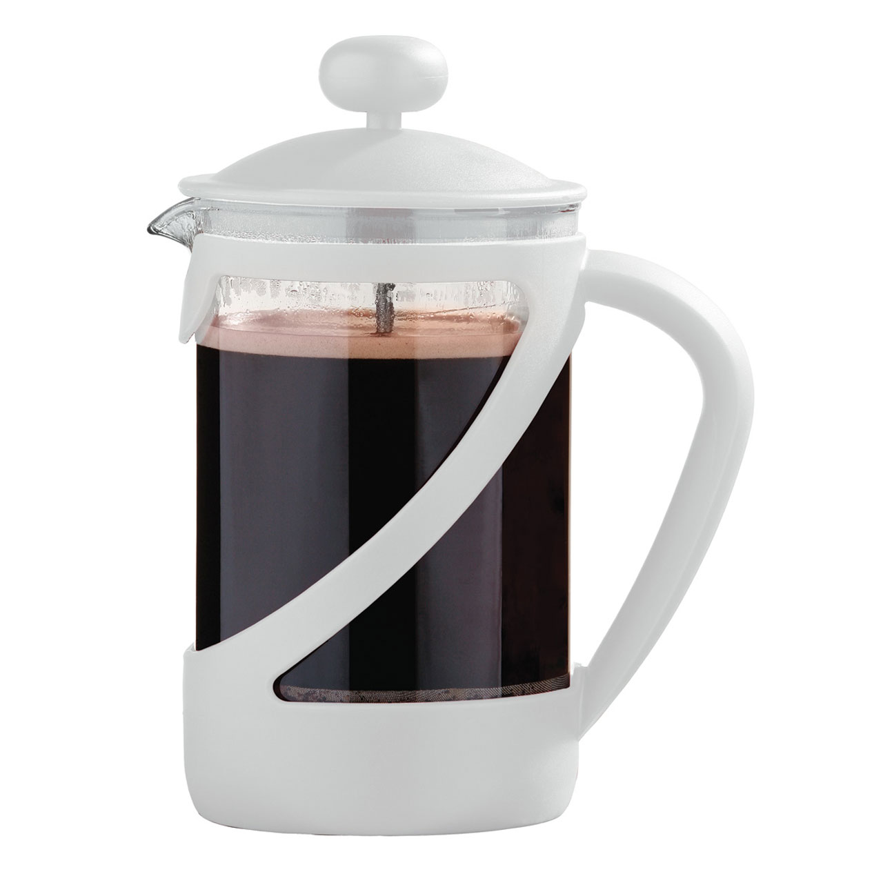 White French Press Coffee Maker : NEW STYLISH KENYA FRENCH PRESS CAFETIERE COFFEE MAKER eBay