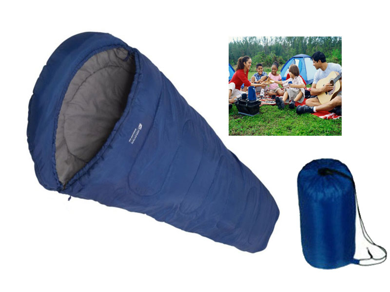 SLEEPING BAG// MUMMY WARM CAMPING CARAVAN SLEEPOVER GUEST SPARE TRAVEL W// BAG