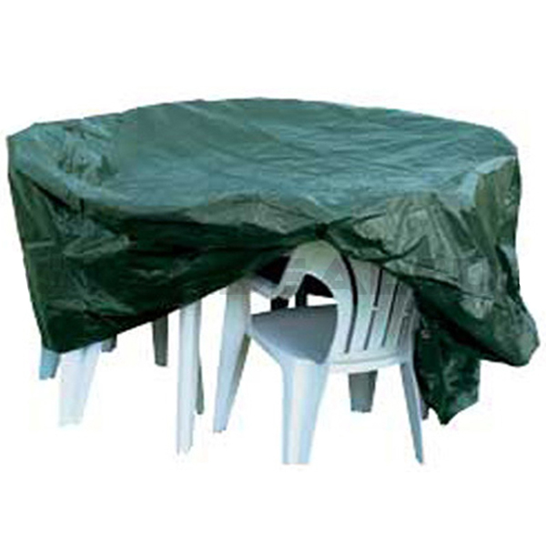 HEAVY DUTY WATERPROOF OVAL PATIO SET COVER FOR GARDEN TABLE CHAIR FURNITURE
