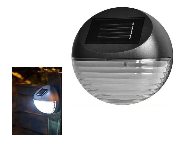 NEW OVAL SOLAR LED POWERED FENCE LIGHTS WALL PATIO DOOR OUTDOOR LIGHTING BRIGHT eBay