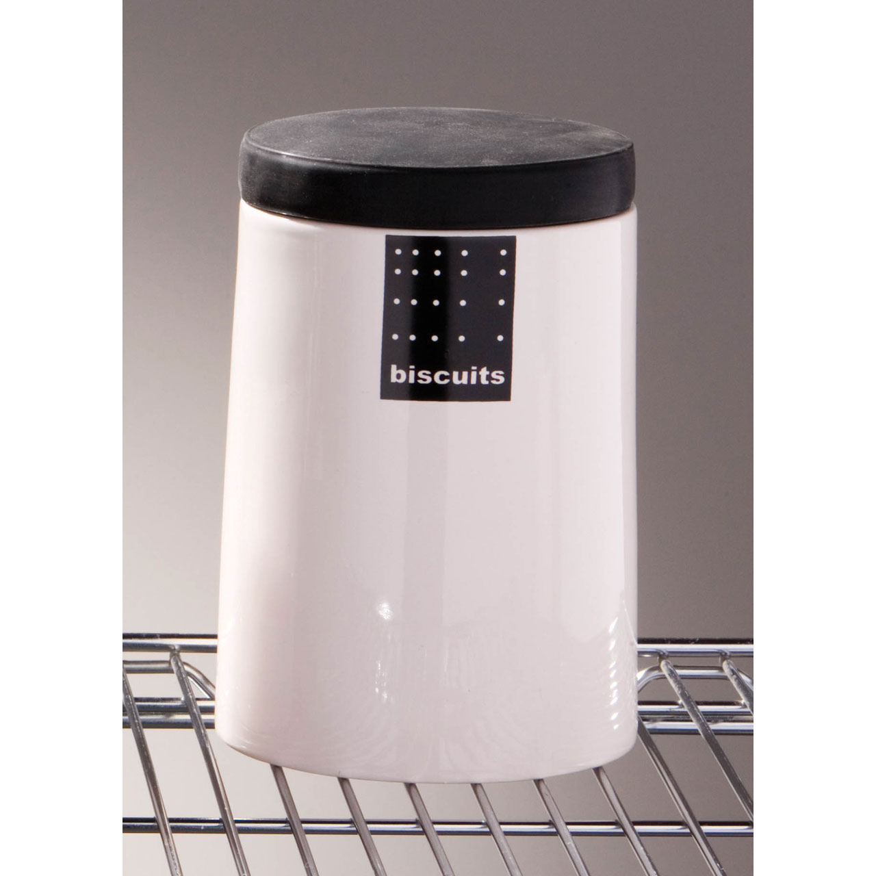 Black Kitchen Bin Sale: TAG BLACK WHITE KITCHEN CERAMIC STORAGE CANISTERS JARS SET