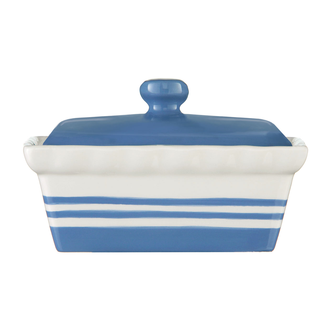 NEW CORNISH BLUE STRIPE CERAMIC TEA COFFEE SUGAR STORAGE