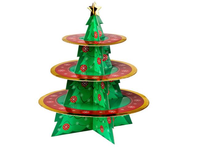 Brand new christmas tier cardboard cupcake cake stand