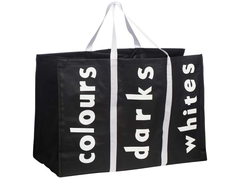Laundry bag basket bin hamper separator folding collapsible colours dark whites ebay - Whites and darks laundry basket ...