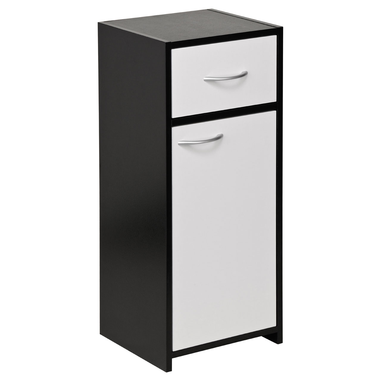 New Black White Bathroom Furniture Floorstanding Under Sink Wall Cabinet Ebay
