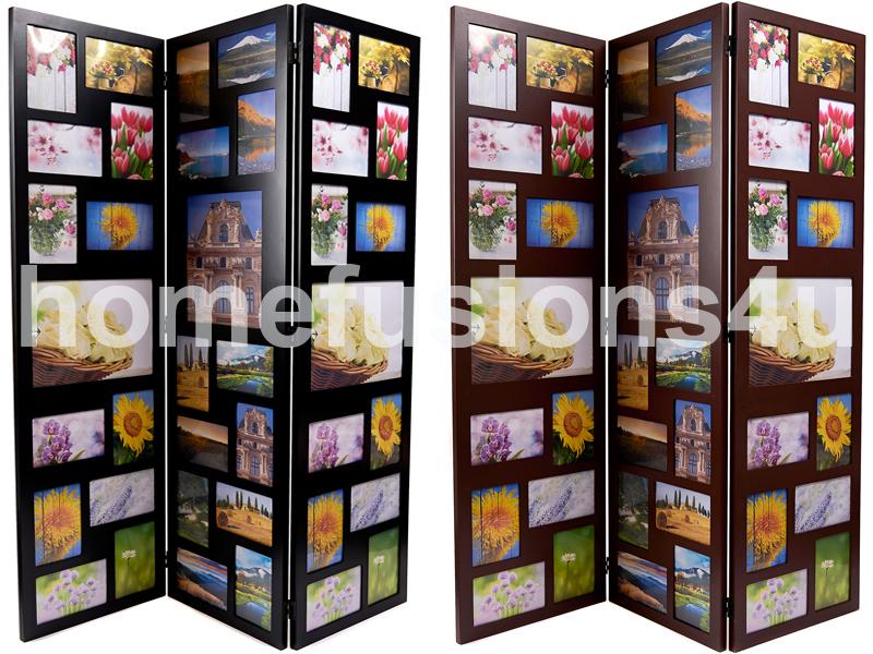 39 photo aperture 3 fold trio triple picture multi frame collage floor standing. Black Bedroom Furniture Sets. Home Design Ideas