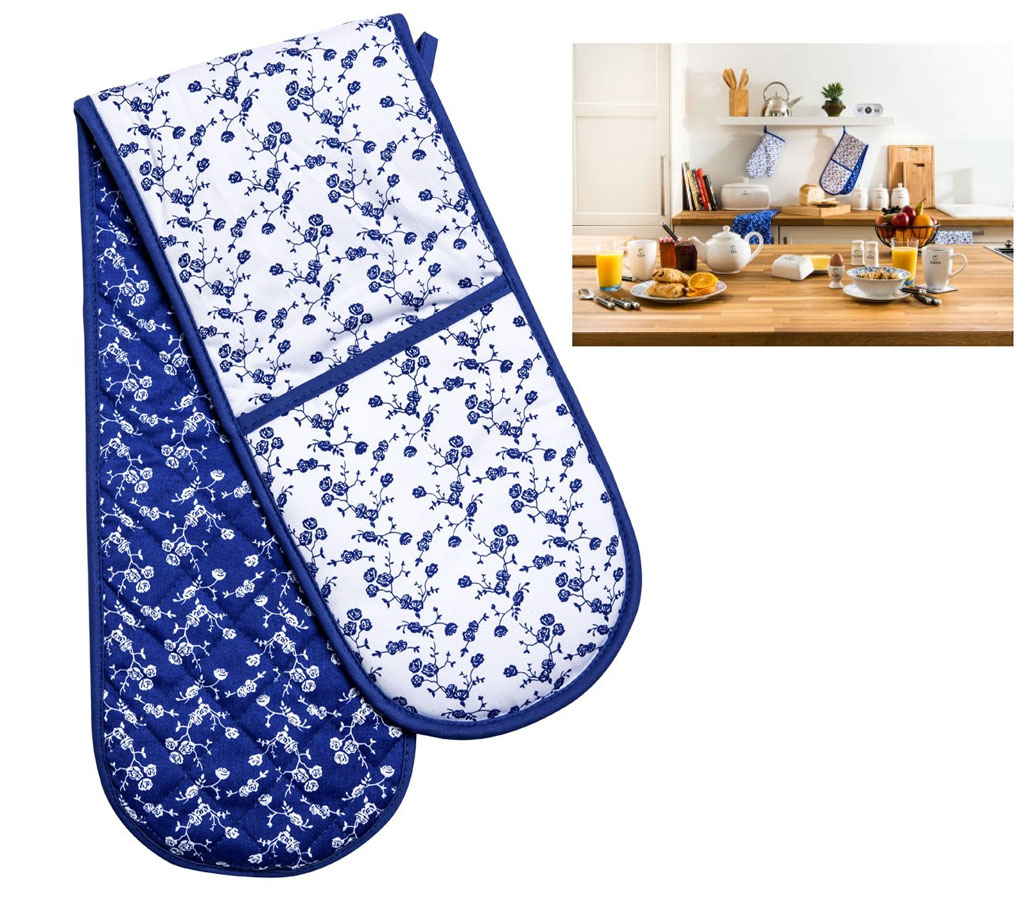 Kitchen Oven Mitts ~ Kitchen double oven glove mitt cooking gloves thick padded