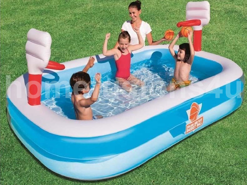 Bestway inflatable basketball game lounge paddling for Garden paddling pools