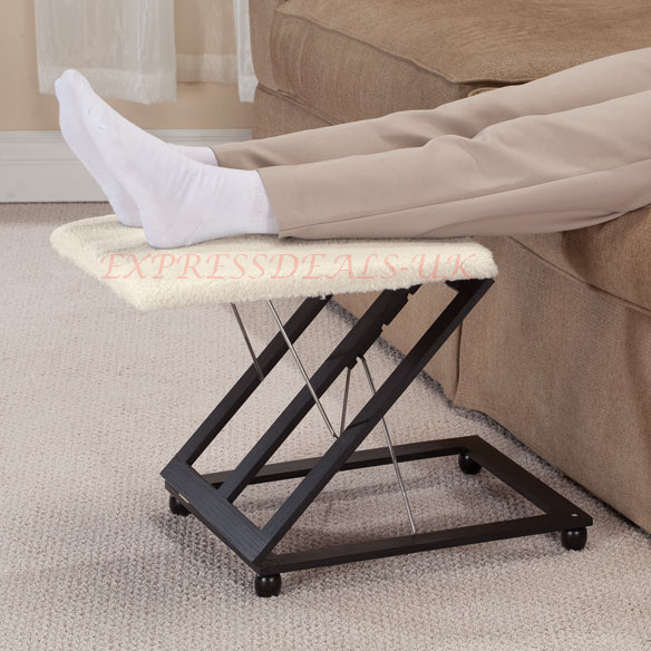 New Height Angle Adjustable Footrest Stool Leg Support