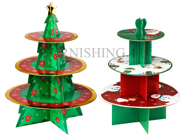 christmas cardboard cake stands