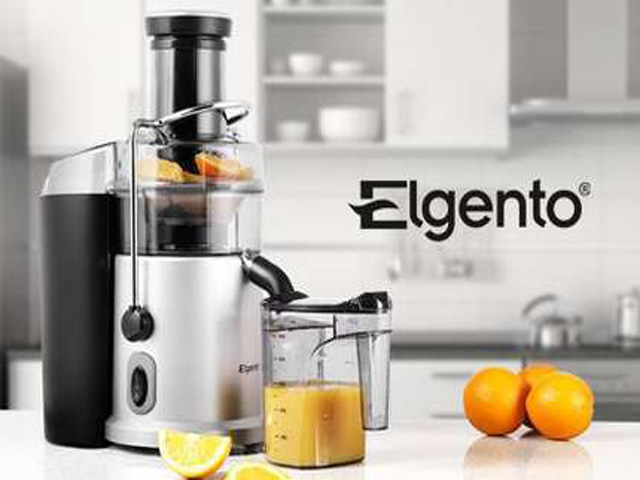 Electric Juice Extractor ~ Elgento electric professional whole fruit vegetable juicer