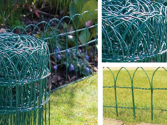 10M 20M 30M 40M X GREEN PVC COATED GARDEN BORDER FENCE FENCING WIRE MESH