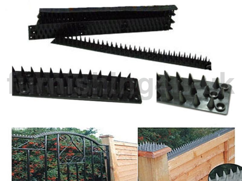 Brown fence wall spikes cat repeller deterrent intruder repellent 9 18 27 36 45 ebay - How to keep intruders out of your garden ...
