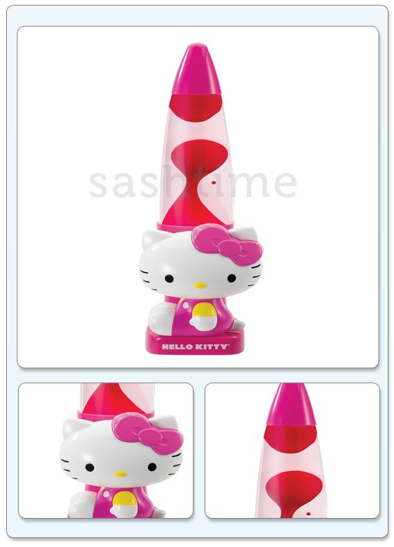 New Hello Kitty Sanrio Girls Pink Lava Motion Glow Lamp