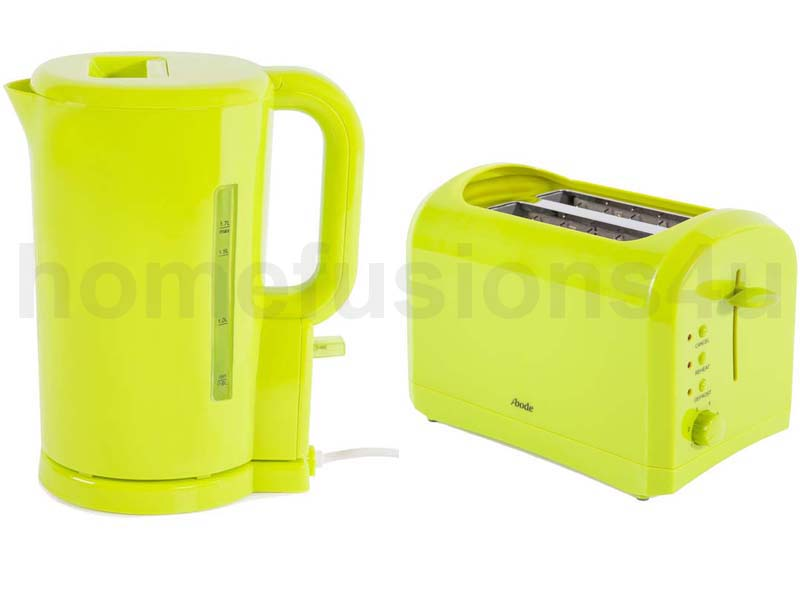 LIME GREEN ABODE ELECTRIC CORDLESS 17L KETTLE Amp 2 SLICE