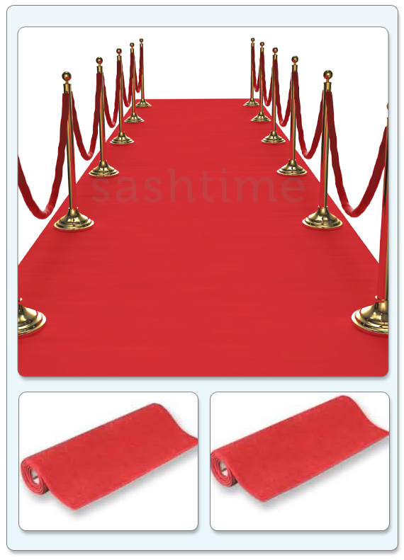 Red Carpet 30ft X 2ft Hollywood Party Decoration Floor