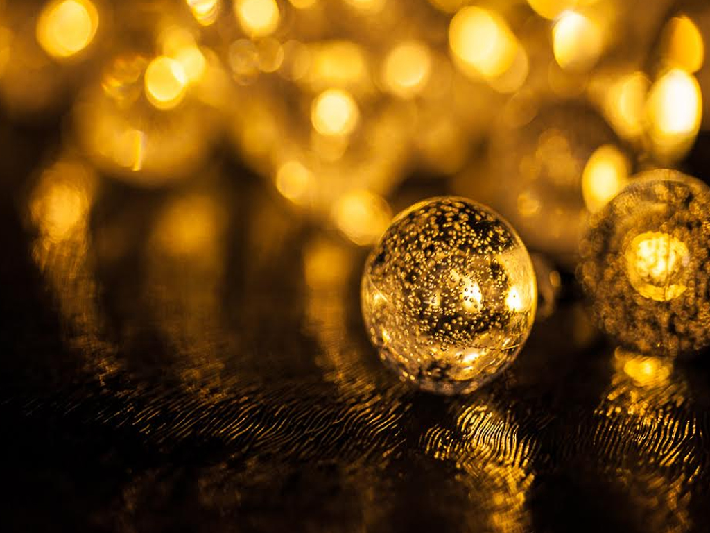 Ball String Lights Indoor : LIVIVO 35 LED GLOBE BALL SOLAR STRING LIGHTS CRYSTAL INDOOR OUTDOOR GARDEN