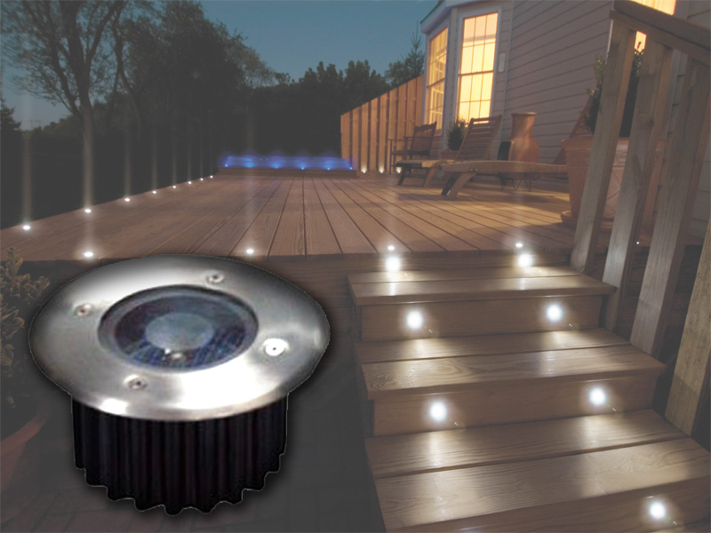led solar powered garden decking deck lights patio driveway ebay