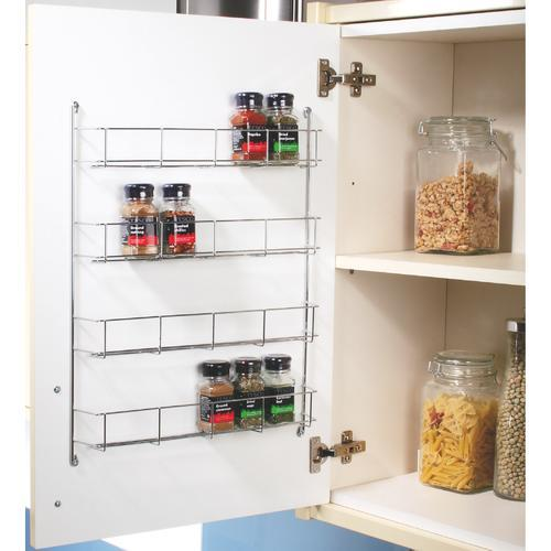 Kitchen Cabinet Spice Racks: SWIVEL STORE CABINET ORGANISER / 4 TIER WALL SPICE RACK