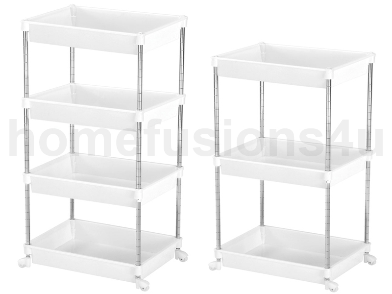 3 4 tier white plastic beauty hairdresser trolley shelf. Black Bedroom Furniture Sets. Home Design Ideas