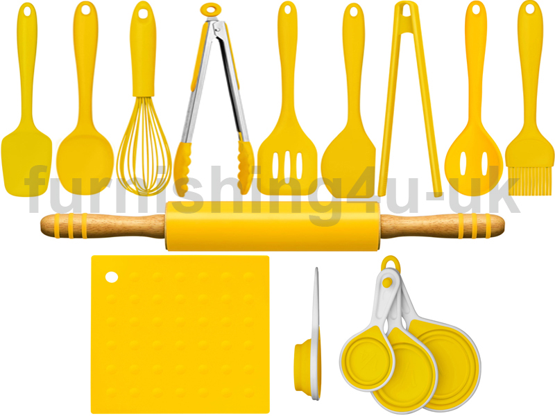Kitchen utensils yellow plate work modern bar stool home for Kitchen set yellow