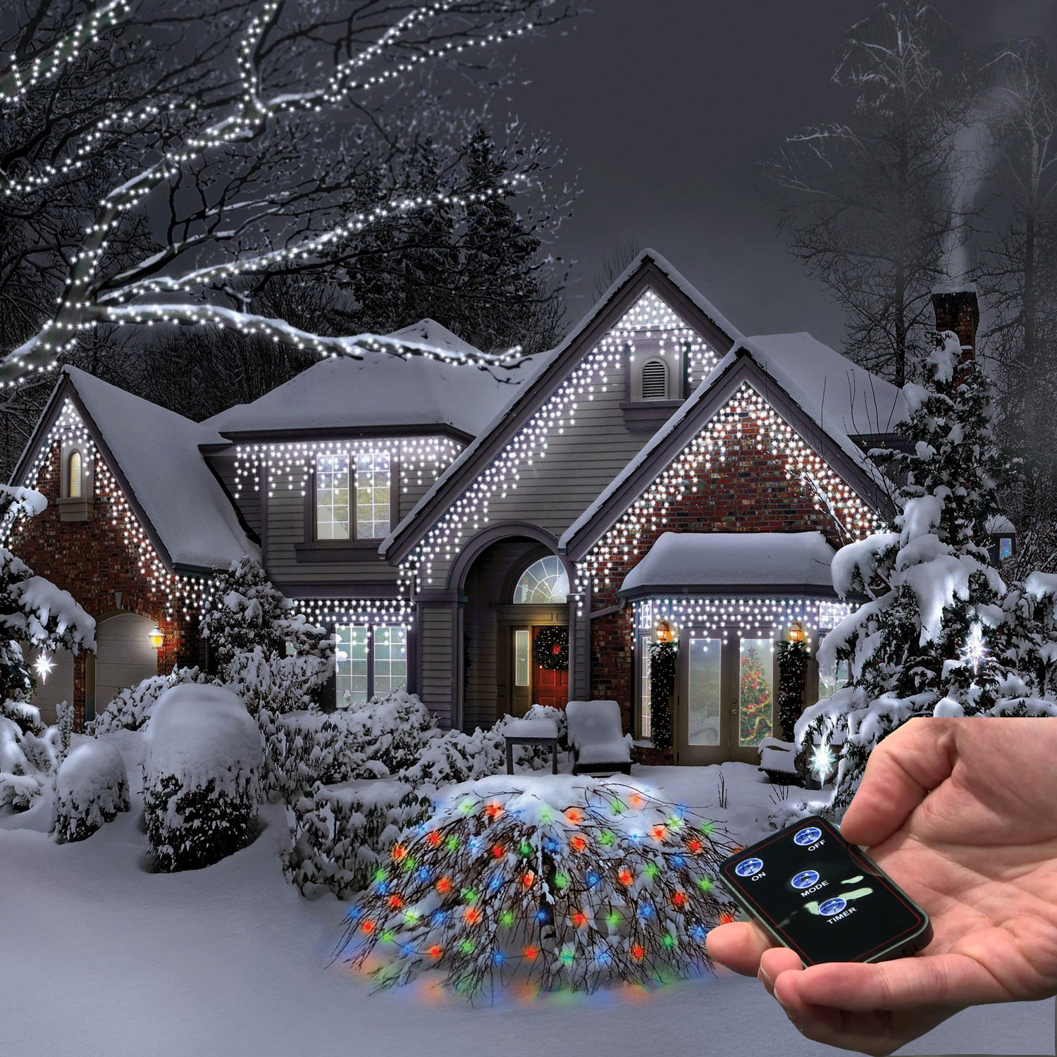 Snowing Christmas Lights.Details About Christmas 200 Icicle Snowing White Led Xmas Lights Party Outdoor Garden W Remote