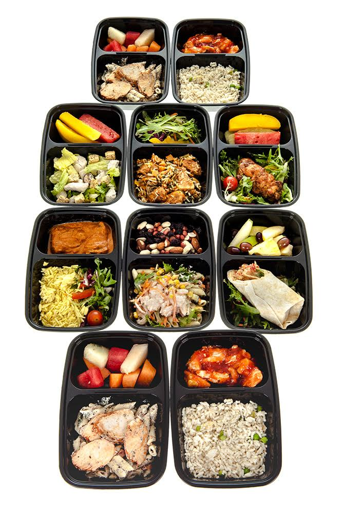10 Pack Bpa Free 2 Compartment Reusable Meal Prep Food