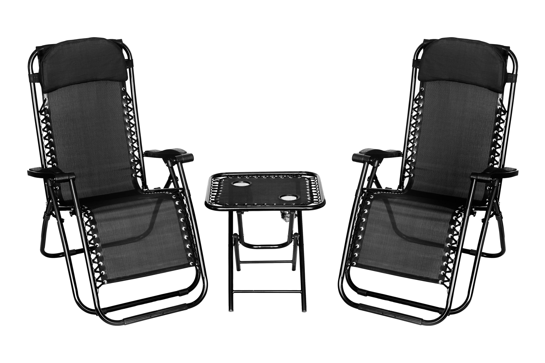 Peachy Details About 3 Piece Gravity Textoline Chair Table Set Garden Reclining Recliner Sun Lounger Machost Co Dining Chair Design Ideas Machostcouk