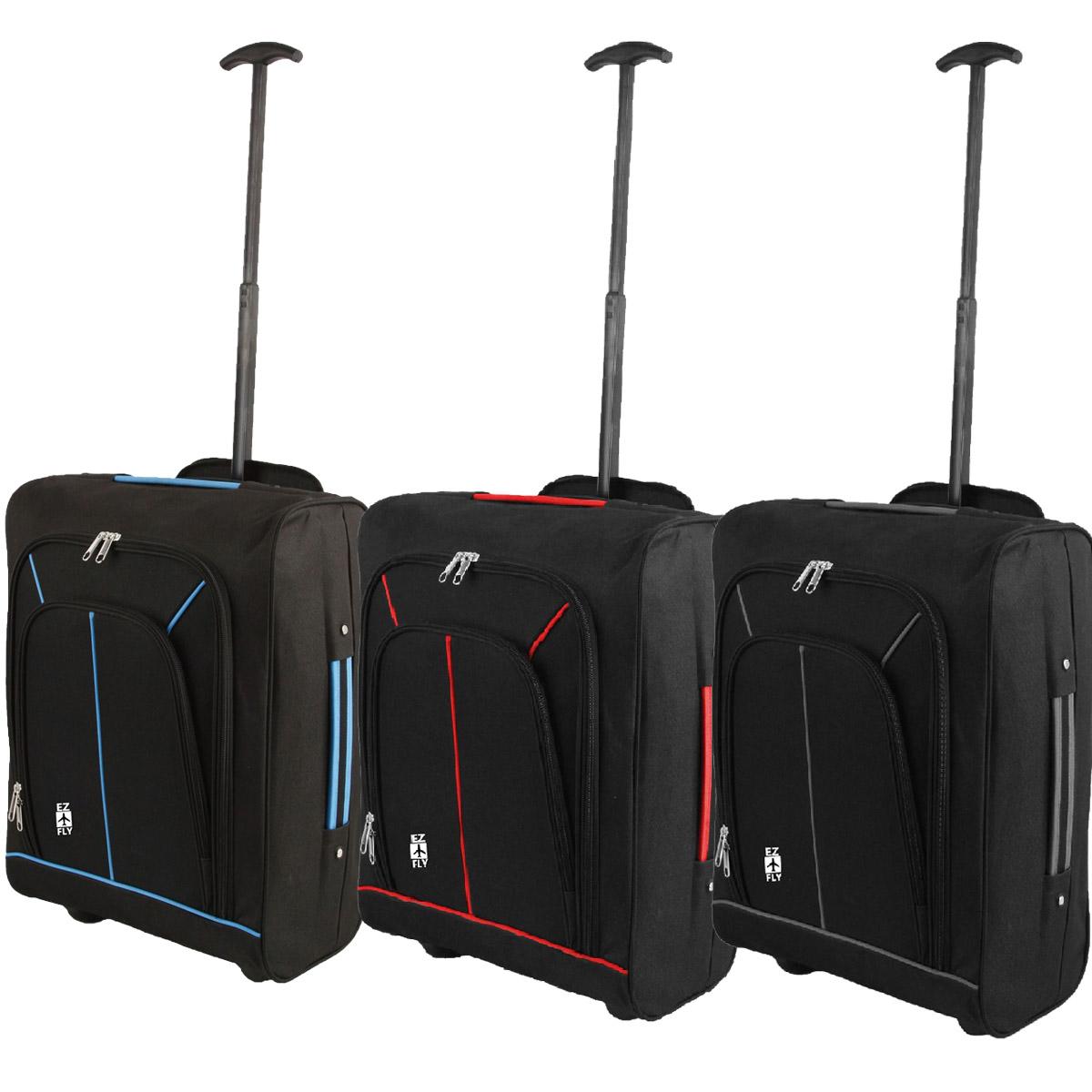 NUOVO Leggero 2 RUOTE TROLLEY CABIN approvato bagagli a mano CUSTODIA VENDITORE REGNO UNITO