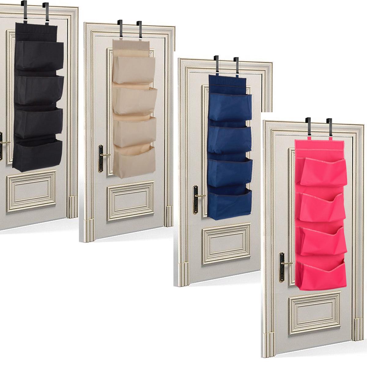 Livivo 4 Tier Over The Door Hanging Organiser Storage Pockets Shoes