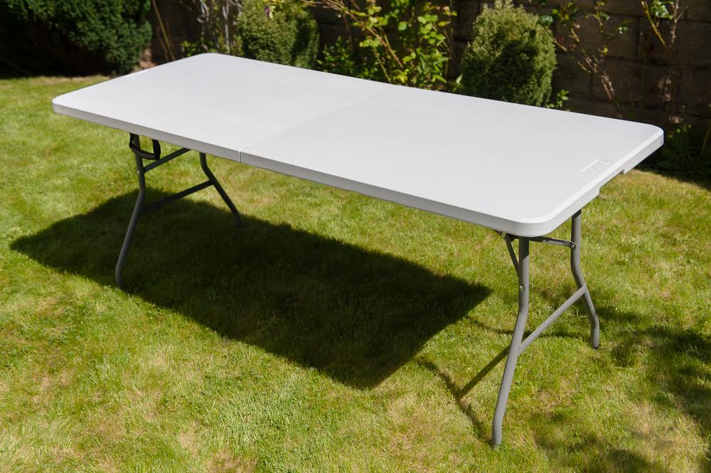 new heavy duty folding table 6 ft camping picnic banquet party