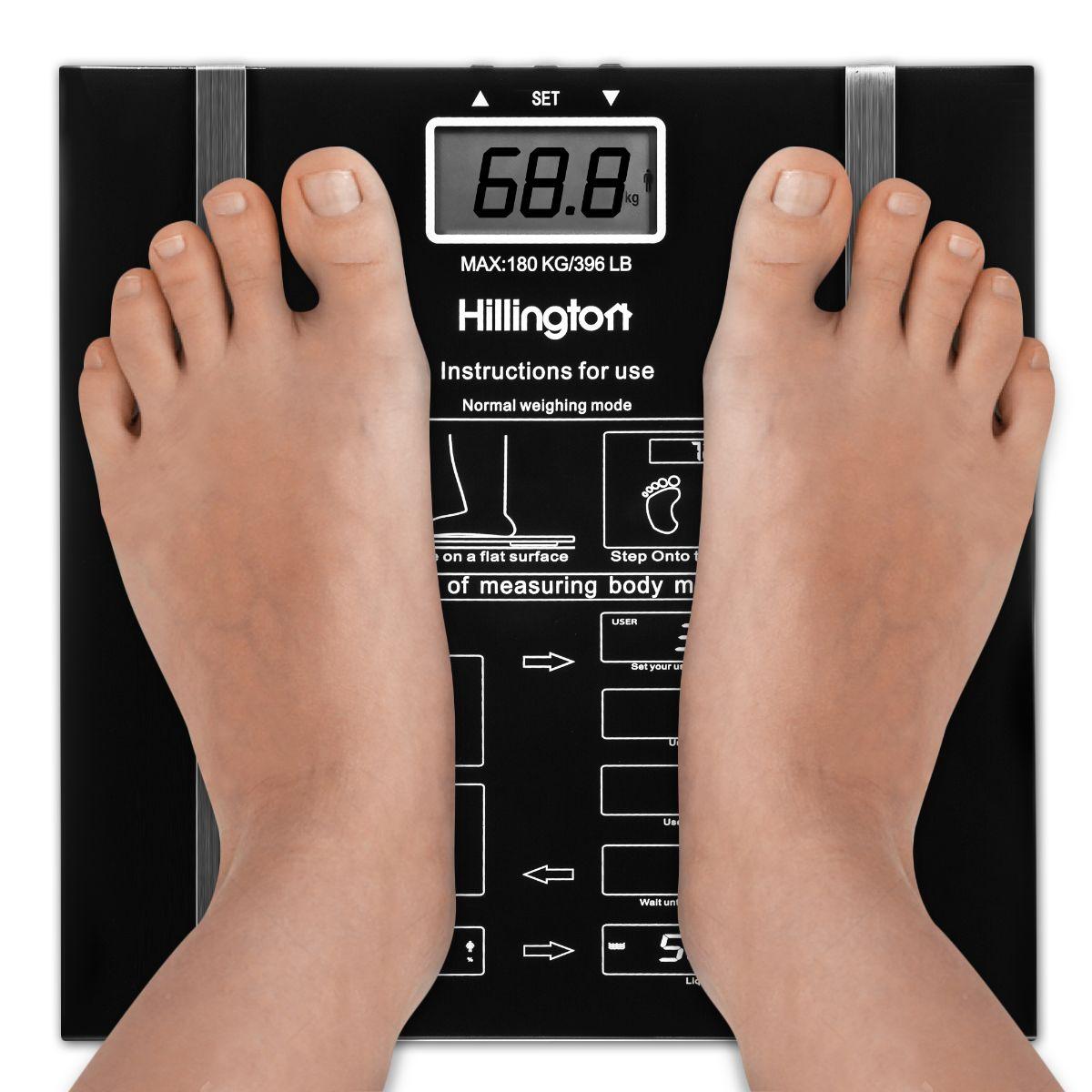 DIGITAL BODY FAT ANALYSER SCALES BMI HEALTHY 150KG