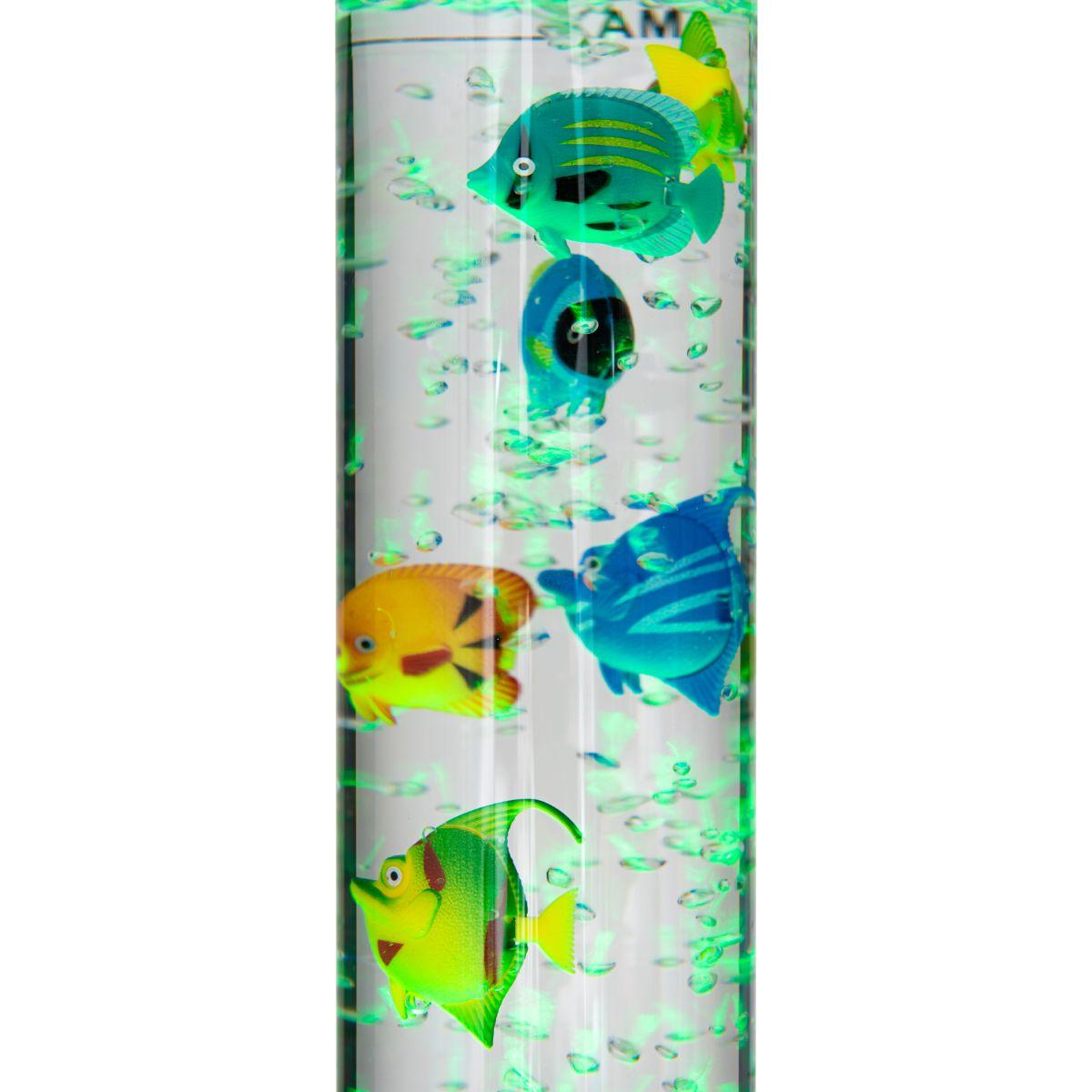 Colour Changing Led Novelty Aquarium Sensory Bubble Fish Water Tube Floor Lamp 5053878503215 Ebay