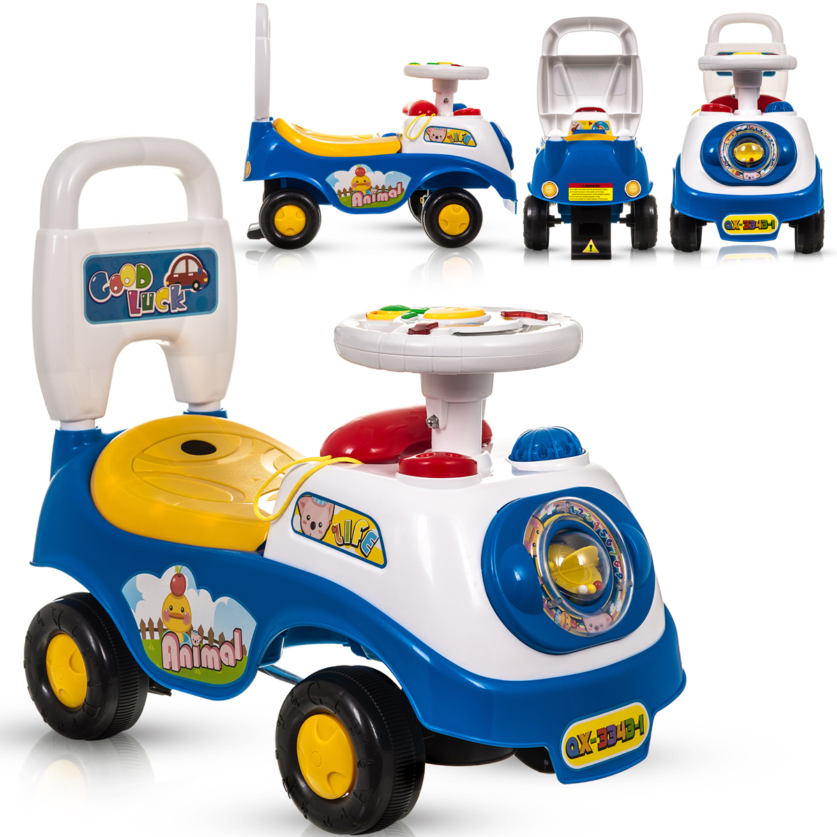 My First Ride On Kids Toy Car Boys Girls Push Along Baby