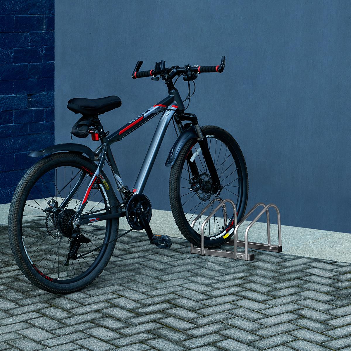 Bike Stand Cycle Bicycle Floor Wall Mount Galvanized Parking Storage Rack