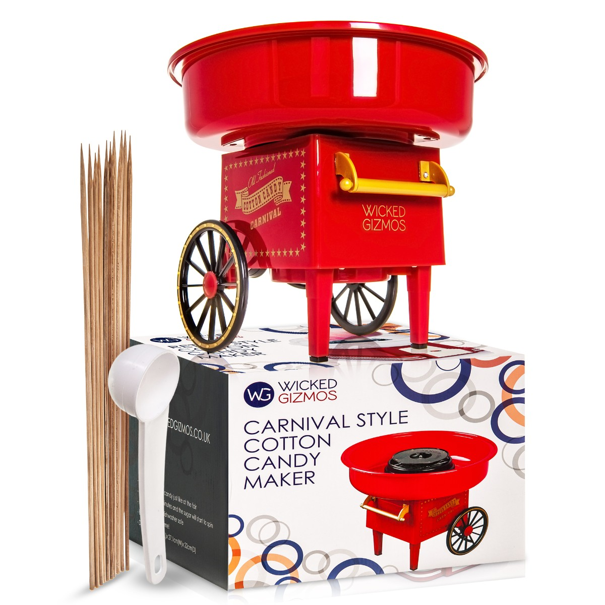 Cotton Sugar Candy Floss Maker Machine Red Electric Portable Home Party Wedding