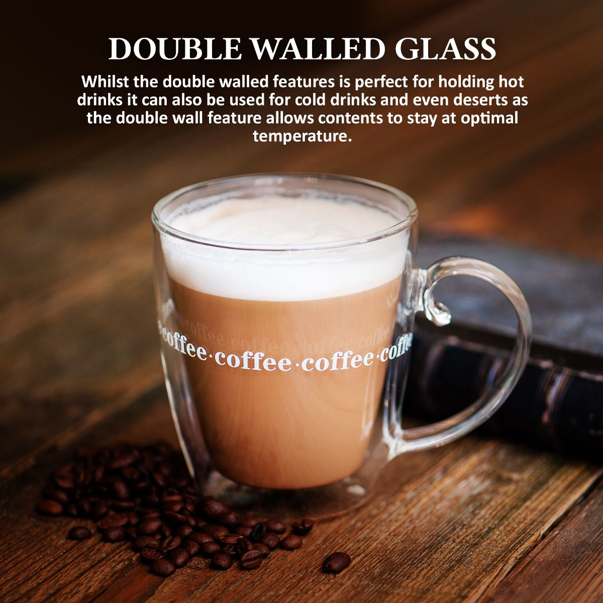 Details about Double Wall Design Glass Tea Coffee Cup Heat resistant Clear Thermo Mug 500ML UK
