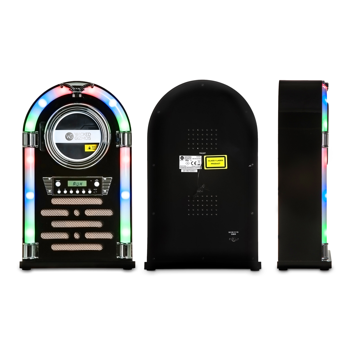 Tabletop Bluetooth Cd Player Jukebox With Fm Radio Aux