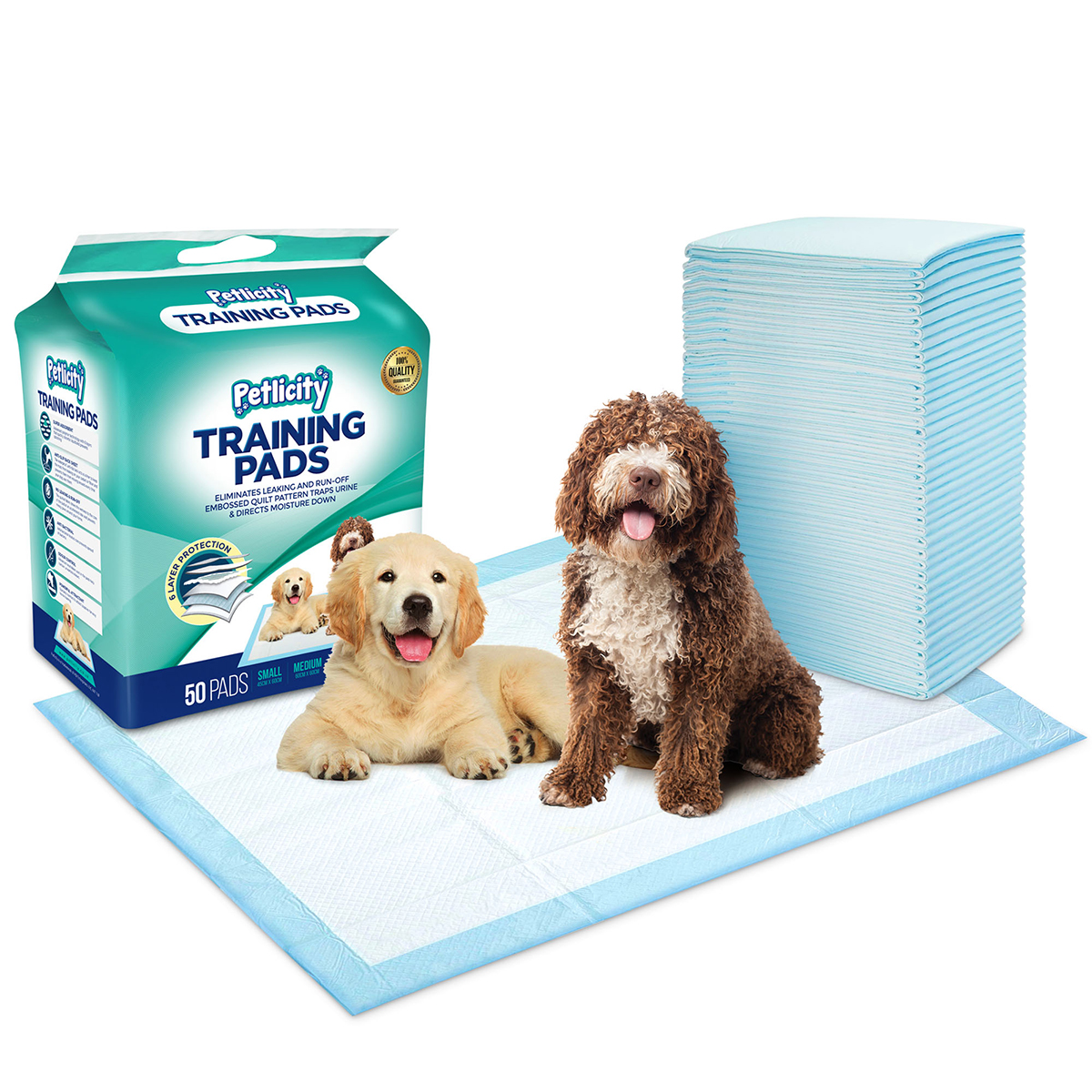 Pack Of Puppy Dog Toilet Training Pads Highly Absorbent Mats To