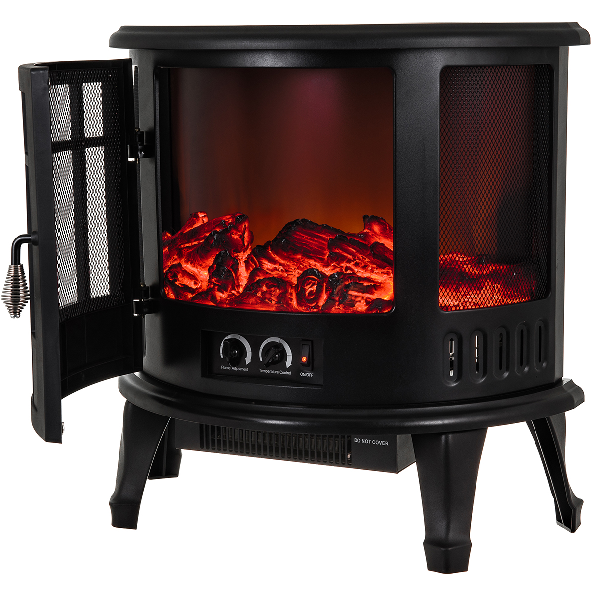 Electric Fireplace Log Burning Flame Effect Stove Fire Heater Thermal Wood 1800w Ebay