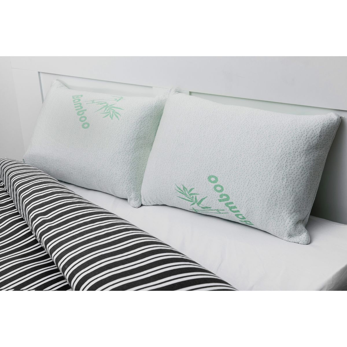 New Bamboo Memory Foam Pillow Premium Support Pillow Luxury Anti-Bacterial UK