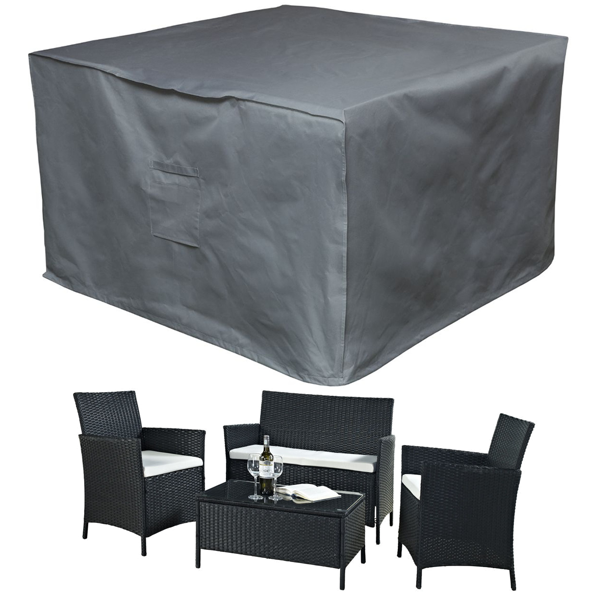 Premium Heavy Duty Waterproof Rattan Cube Cover Outdoor Garden Furniture  Rain  eBay