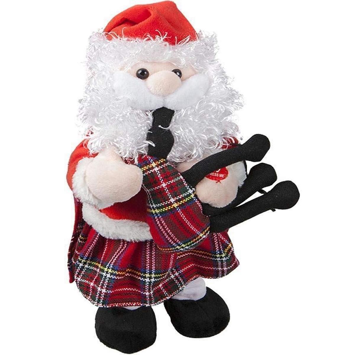 12 Musical Dancing Santa Bagpipe Scottish Festive Xmas Christmas Novelty Decor 5050565288202 Ebay