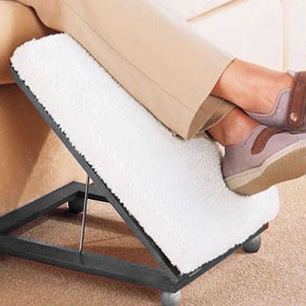 Adjustable Footrest Foot Stool Comfortable Height Amp Angle