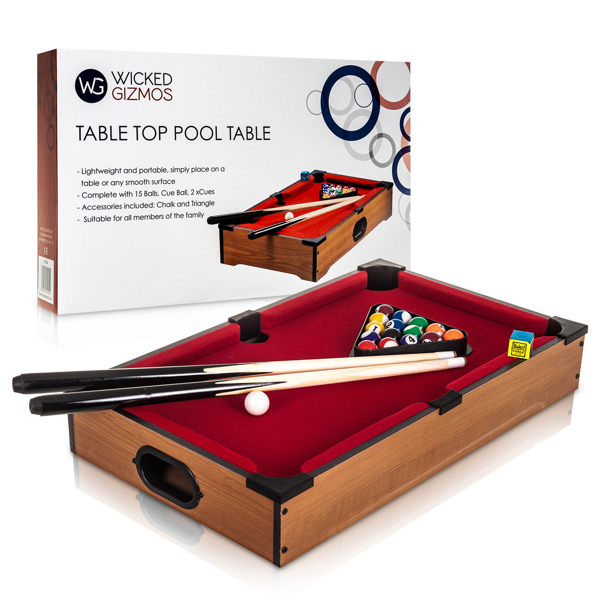 Original Giant BLACK 8 Ball Cue Stand /& Rack Holds Up To 9 Cues by Funky Chalk