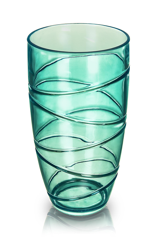 4 X Coloured Swirl Plastic Acrylic Tumblers Glasses Hi