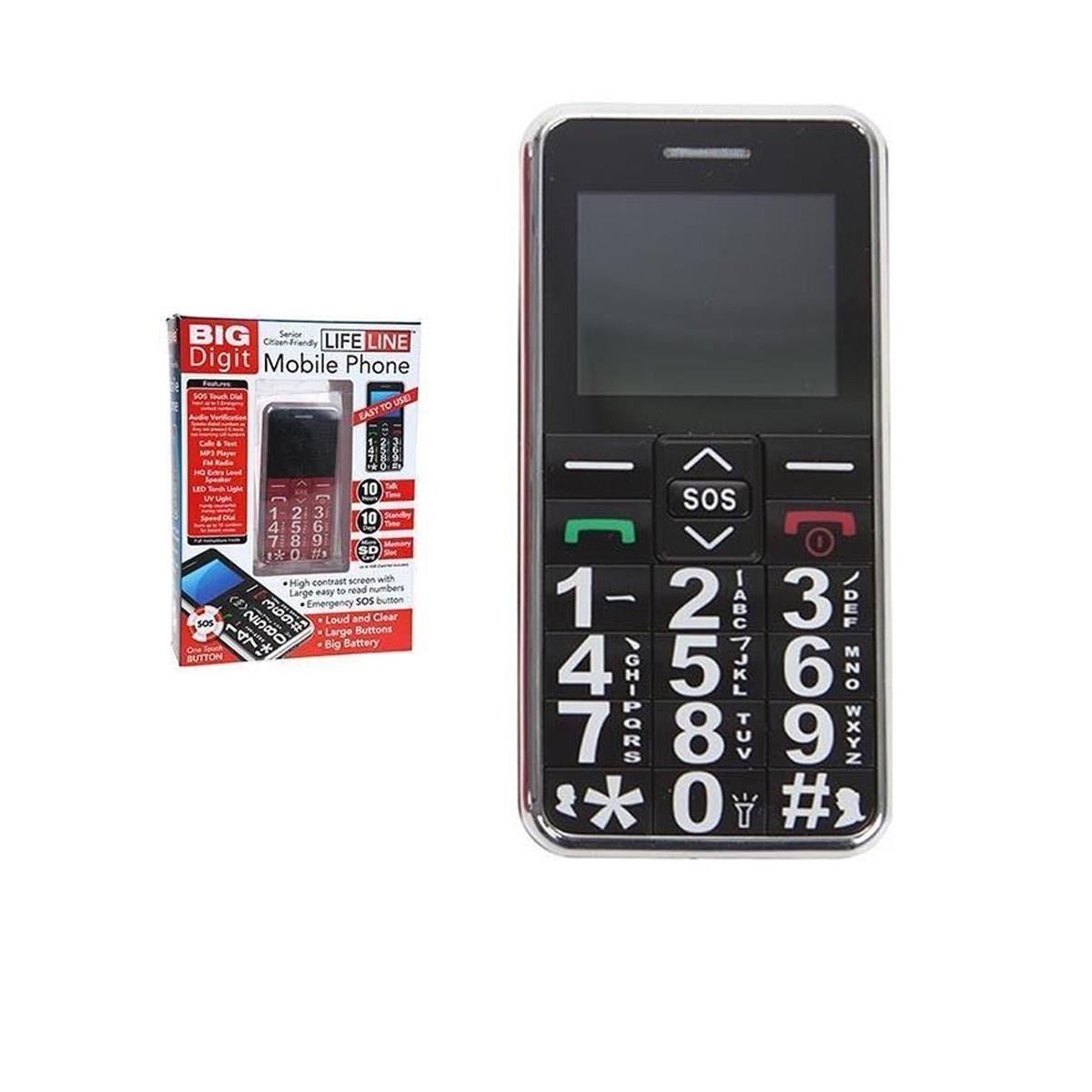 big digit mobile phone large digits sos button unlocked. Black Bedroom Furniture Sets. Home Design Ideas