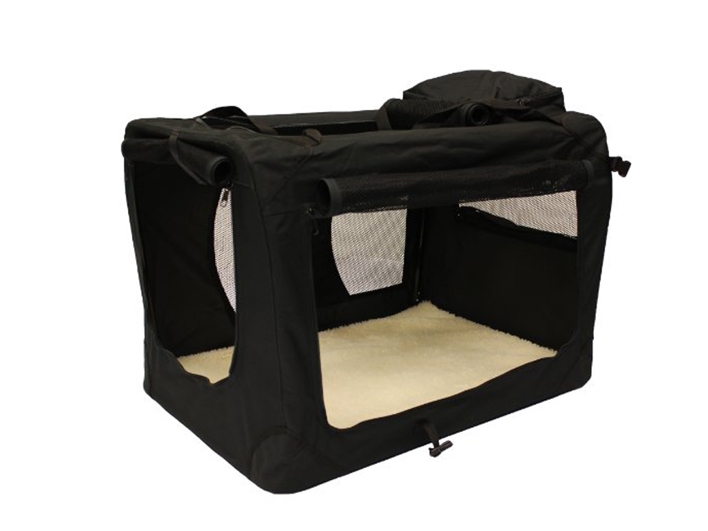 Dog Cat Puppy Fabric Portable Carrier Folding Crate Cage